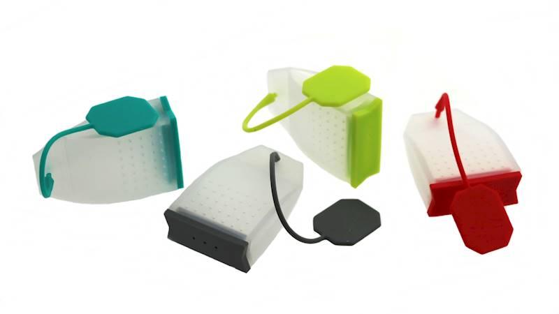 Zaparzacz silikonowy, do herbaty, ziół torebka herbaty, 4kolory / Silicone brewer in tea bag shape 8712442122463 / 22090280