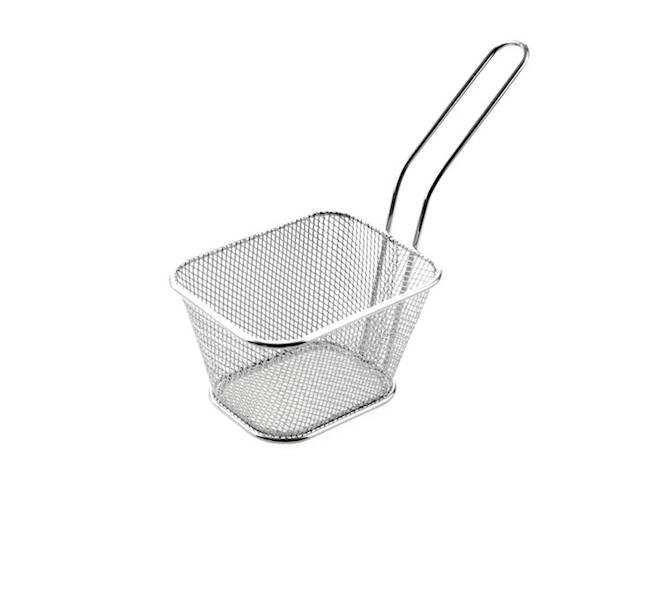 FRYTKI Stalowy koszyk do frytek z rączką  8,5x6,5x10,5cm / Stainless French fries bascet 8712442095651 / 22275550