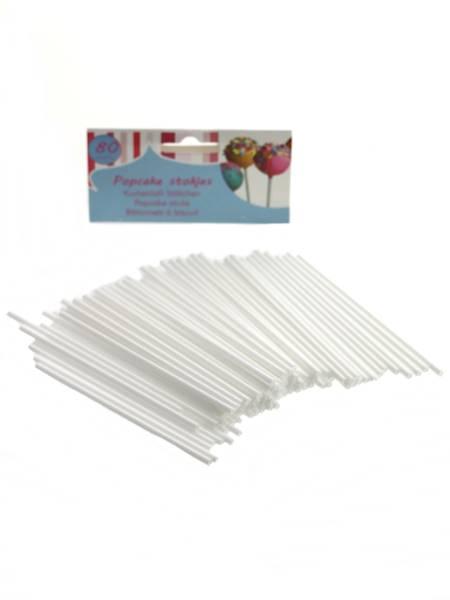 LIZAKI Patyczki do Llizaków białe, 80szt. / Plastic CAKE POPS Lollipop 80 pcs sticks 2011022777052 / 22277705