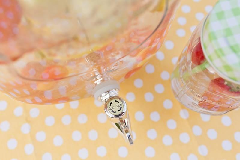 PARTY słoik szklany z kranikiem metal zakrętka 7,5 l / Glass jars with tap 7,5 l metal cover 23468335 / 8712442124771
