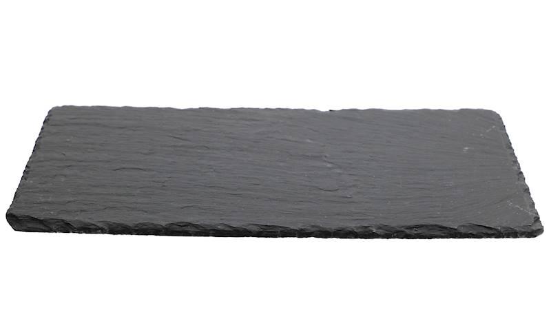 ŁUPEK kamienny- podstawka / taca do serwowania dań, czarna 17x34 cm / Stone trivet 17x34cm 8712442039273 / 23464646