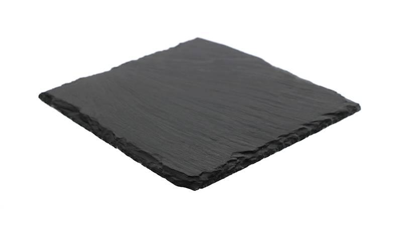 ŁUPEK kamienny- podstawka / taca do serwowania dań, czarna 17x17 cm / Stone trivet 17x17cm 8712442039259 / 23464639