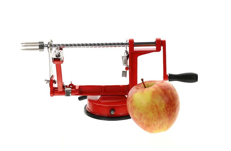 Gadget obieraczka do jabłek, metalowa, 2 kolory, 31x13,5cm / Metal apple peeler red/green 8712442093275 / 22275591