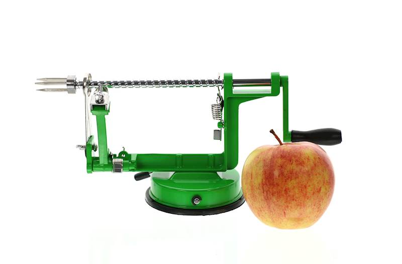 Obieraczka do jabłek, metalowa, 2 kolory, 31x13,5cm / Metal apple peeler red/green 8712442093275 / 22275591