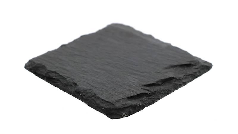 ŁUPEK kamienny- podstawka pod kubek / taca, czarna 10x10 cm / Stone trivet 10x10cm 8712442122265 / 23464680