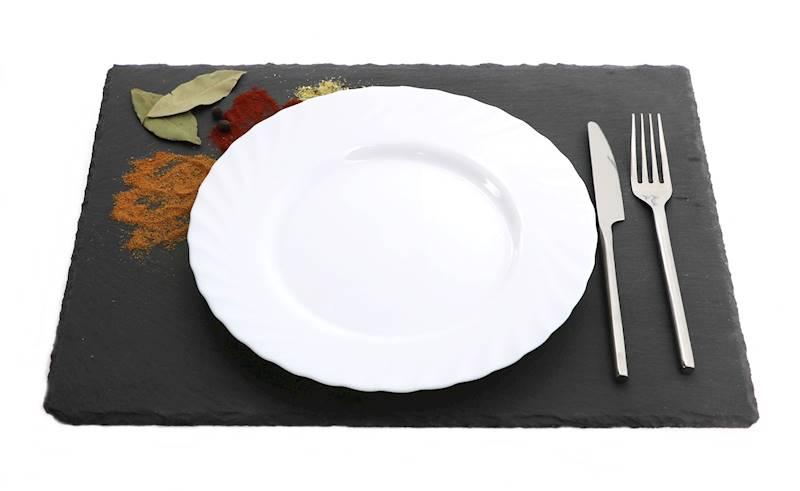 Łupek kamienny- Podstawka/taca do serwowania dań, czarna, 30x40cm / Stone trivet 30x40cm  8712442064466 / 23464654