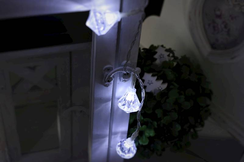 Lampki ledowe brylanty 10 diod / LED Diamond Acrilic 10 pcs COLD led 23140029 8712442636496
