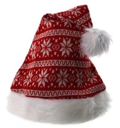 Deco zimowa Czapka Świętego Mikołaja, uniwersalna / XMAS Santa hat white and red 23099420 8712442142140