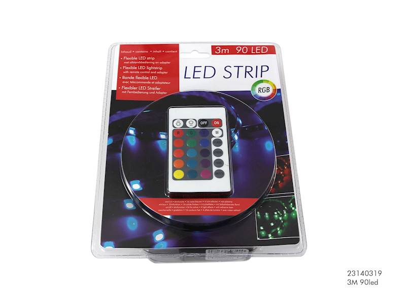 LED taśma, 90 diod, 3m / LED striplight rbg 3 M 9035 8712442104964 / 23140319