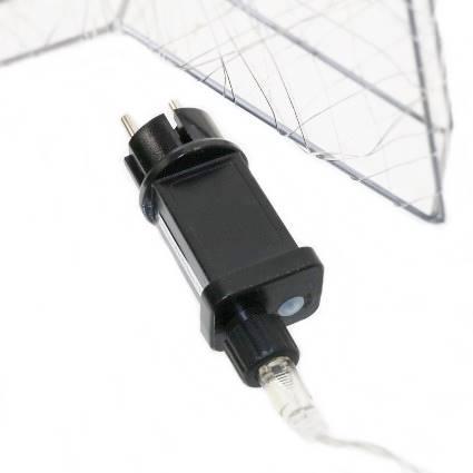 LED Gwiazda metal/żyłka 180 ledów, 58cm / LED wire star 58cm - 180 warm leds 8712442140207 / 23121736