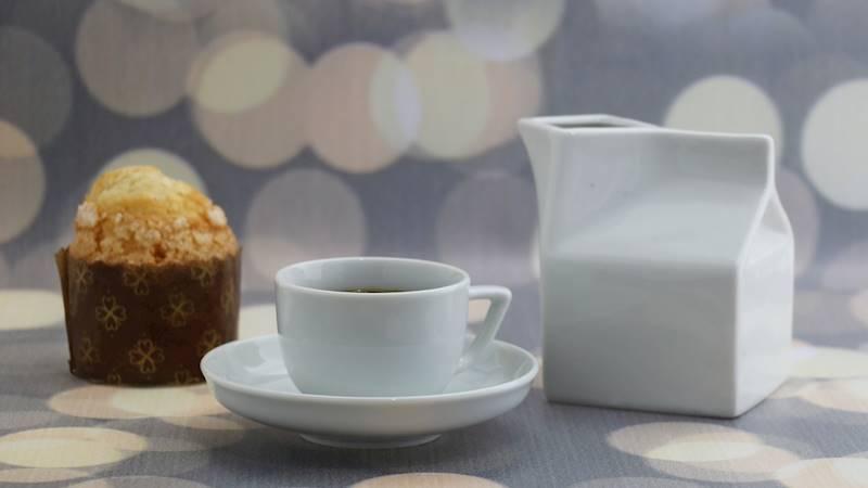 Porcelanowy mlecznik w kształcie KARTONIKA 250 ml / Porcelain milk pot milkbox shape 250 ml 8712442911197 / 24302814