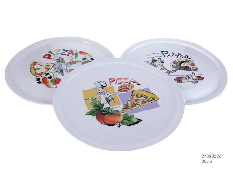 PIZZA- Talerz porcelanowy do pizzy, 3 wzory, 30,5cm / Porcelain pizza plate decal ITALY 30,5 cm 8712442108948 / 27020526