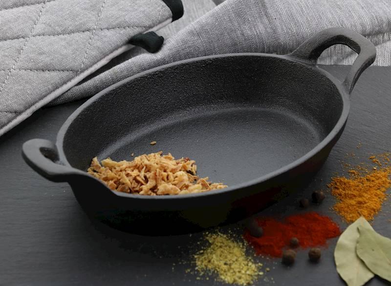 ŻELIWO-żeliwne naczynie do serwowania dań 21,5x15x4cm / CAST IRON Dish 21,5x15x4cm 8712442151296 / 23460346