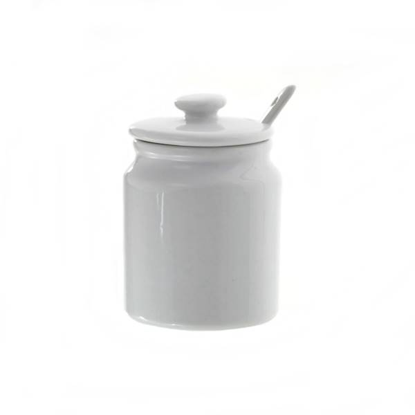 Porcelanowa CUKIERNICA z pokrywką i łyżeczką 180ml / Porcelain sugar pot with lid + spoon 8712442066408 / 24302889