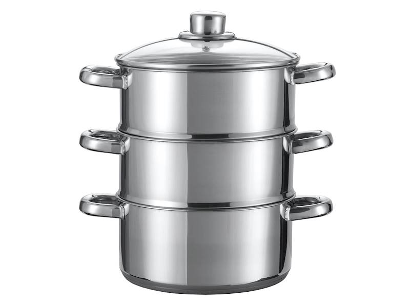 GARNEK do gotowania na parze 3 poziomy / Pot stainless steel STEAM 20 cm 3 level 8712442022367/ 24350544
