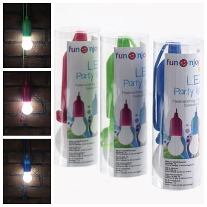 LED żarówka na sznurku 3 kolory, 6x17cm / LED Bulb hanging 3 colors 8712442152224 / 23361664