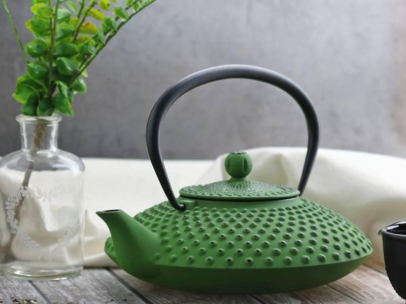 ŻELIWO-żeliwny czajniczek w stylu japońskim 1,25l zielony /  Cast iron japanese teapot 1,25L GREEN 8712442123545 / 22170653