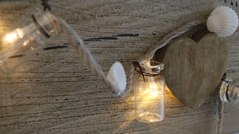Lampki ledowe 10 LED butelki i muszelki 175cm / LED SUMMER shell and bottles warm 10 pcs 175cm 4047096884547