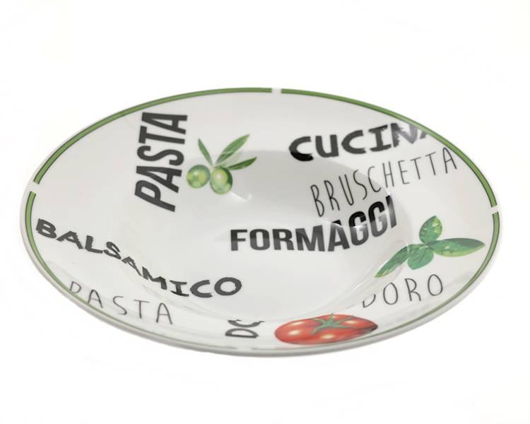 """PIZZA PASTA talerz do makaronu i innych potraw 2 wzory / PIZZA PASTA porcelain plate 10,5"""" design 8712442105565 27020603"""