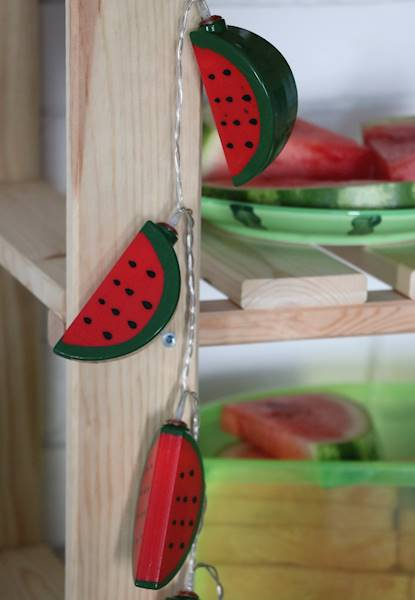 Lampki ledowe arbuzy plastikowe 10 LED / Watermelon LED plastic chain 10 pcs 8712442153511 / 23362630