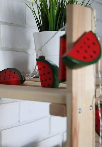 Lampki ledowe arbuzy plastikowe 10 LED / Watermelon LED plastic chain 10 pcs 8712442153511 / 23362630