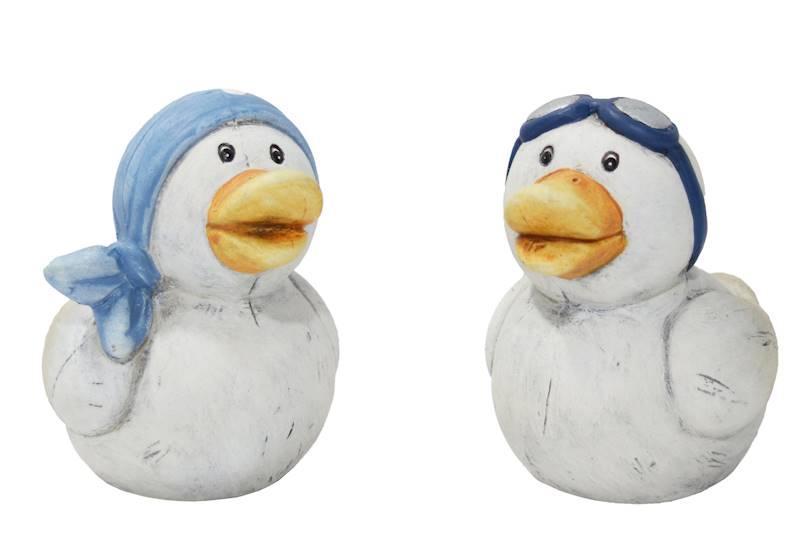 MARINE Dekoracyjna figurka ceramiczna KACZKA, 2 wzory / MARINE Deco ceramic figurine DUCK, 2 pattern 44000 4047096440002