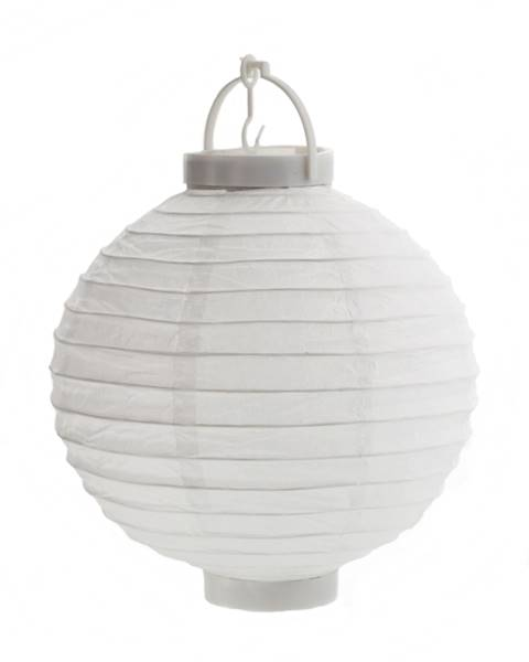 LED Lampion papierowy owalny, biały, 35cm / LED Paper ball garden light 35cm White 8712442155096 / 23363349