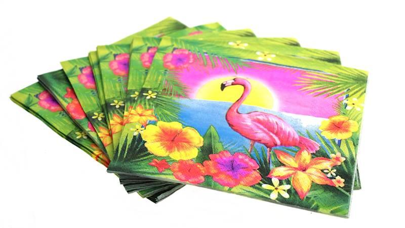 FLAMINGO serwetki papierowe 20 sztuk / FLAMINGO Napkin 2 layer 20pcs 8712442154877 / 22281794