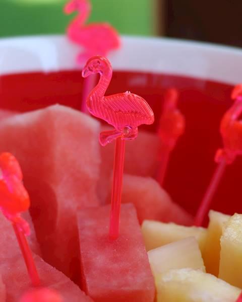 FLAMINGO, plastikowe patyczki do owoców 12 sztuk / FLAMINGO Party stick fruit plastic 12pcs, 8712442154815 / 22271236