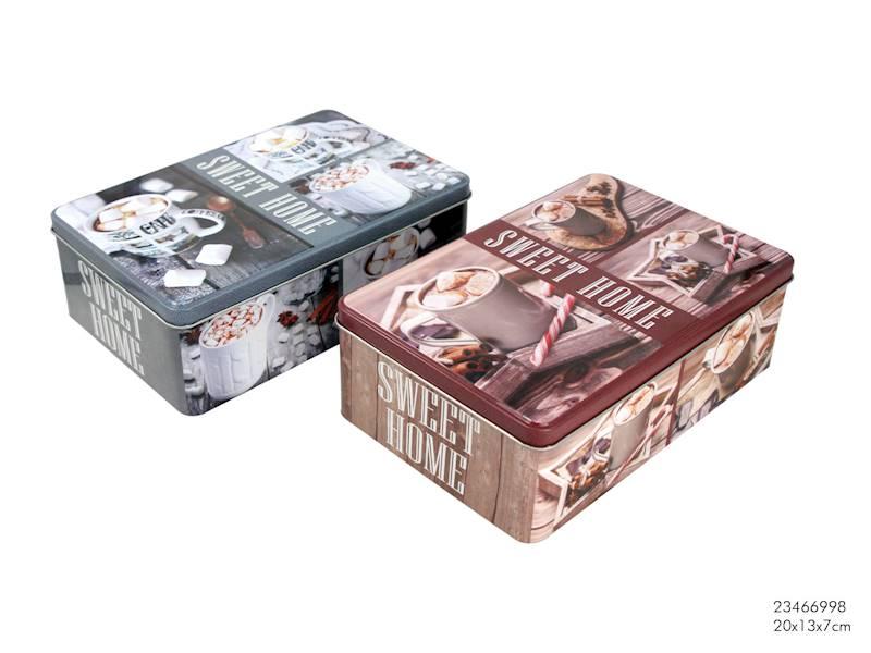 Metalowa puszka/pojemnik do przechowywania żywności / Metal square box coffee 8712442157038 / 23466998