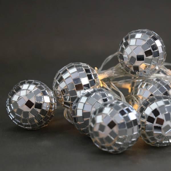 Lampki ledowe cotton balls disco 10 diod AA 23122054/ LED Cotton balls disco 10 warm white 23122054 AA