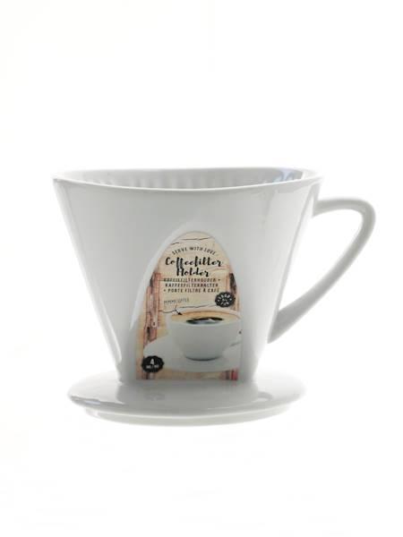 Porcelanowy Lejek do FILTROWANIA KAWY zaparzacz / Porcelain COFFE filter holder size 4 8712442040705 / 24302079
