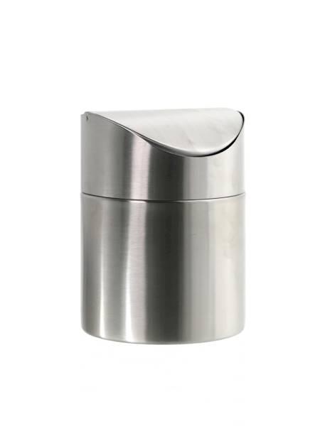 BEAUTY stalowy pojemnik kosz MINI na odpady stalowy / Stainless table garbage bin satin 8712442009221 / 22170556