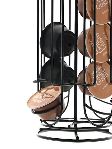 NESCAFE Stalowy stojak do kapsułek Dolce Gusto CZARNY NESCAFE / Stainless coffe caps stand BLACK NESCAFE 8712442661078