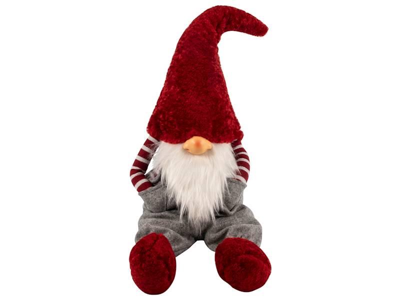 Deco Winter GNOME 74 cm grey pants siting 23098156