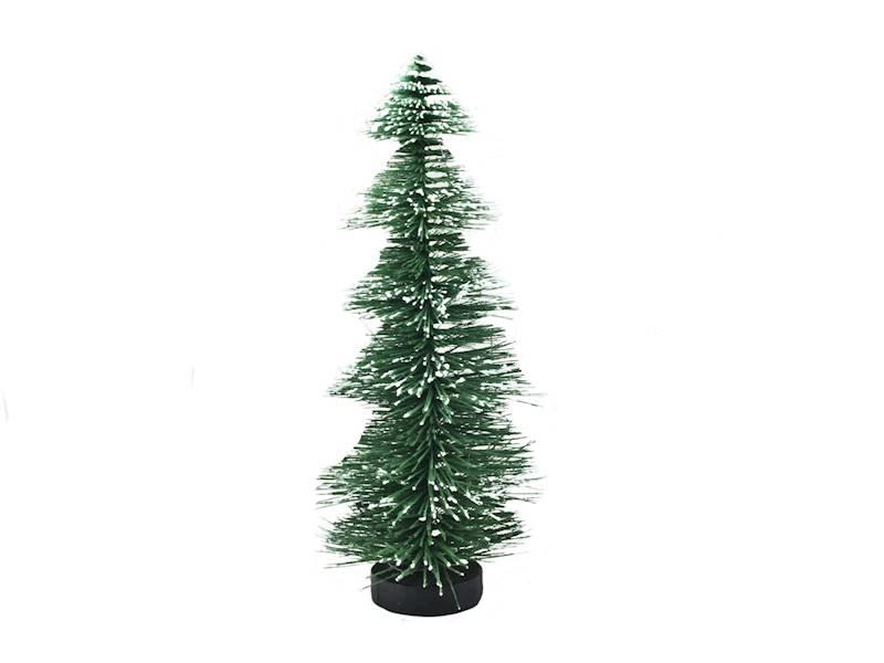 Deco szczotkowa choinka zielona 32 cm na drewnianej podstawie 23104291/ Deco Xmas brush TREE green 32cm wood base 23104291
