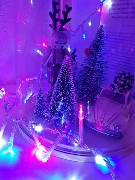 Lampki ledowe pastelkolor 700 diod 220V ip44 23151654/  LED chain pastelcolor 700 led xm timer 23151654