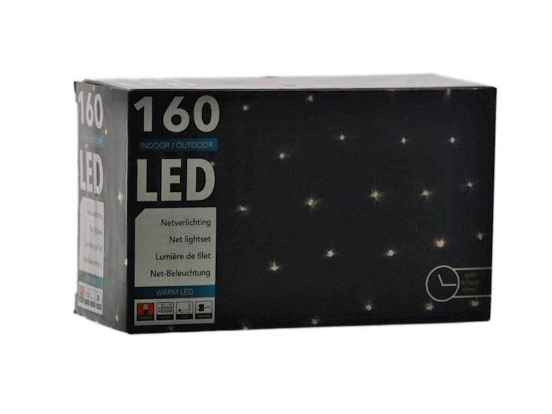 LED NET rectangular 100x190 cm 160 warm 23145119