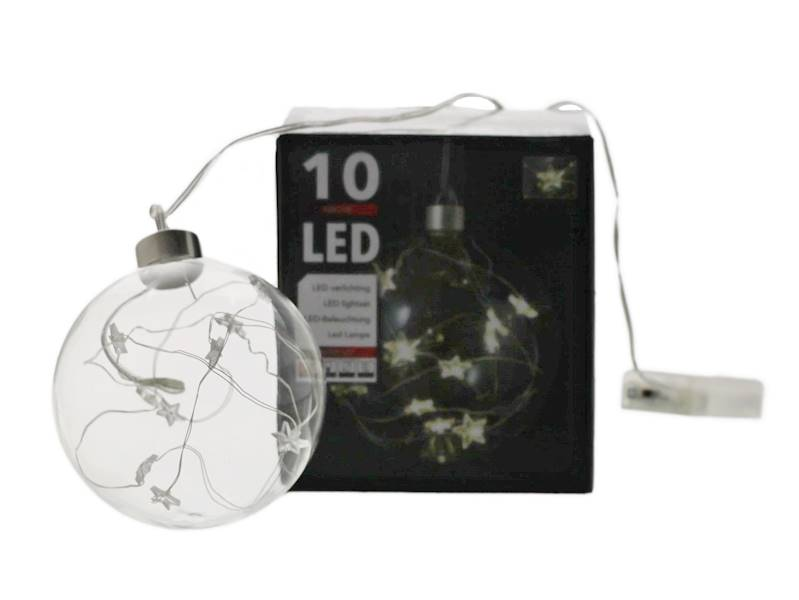 LED Glass ball 10cm 10 wire star 23144105 AA