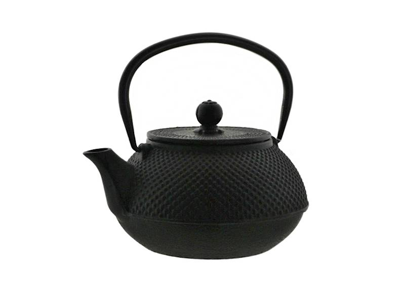 Cast iron japanese teapot 0,8L GIFT ONE BLACK