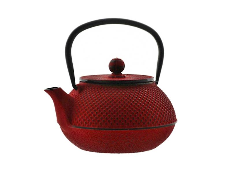 Cast iron japanese teapot 0,8L GIFT ONE RED