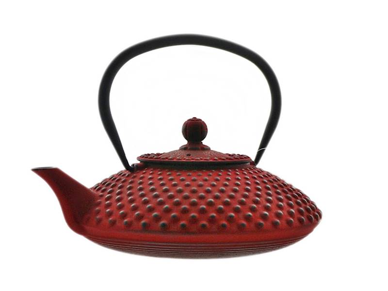 Cast iron japanese teapot 1,25L GIFT ONE RED