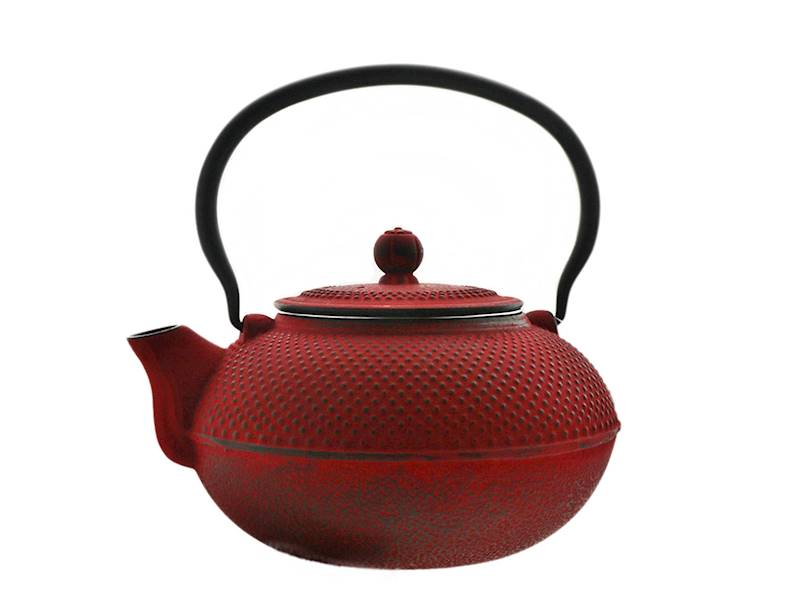 Cast iron japanese teapot 1,5L GIFT ONE RED