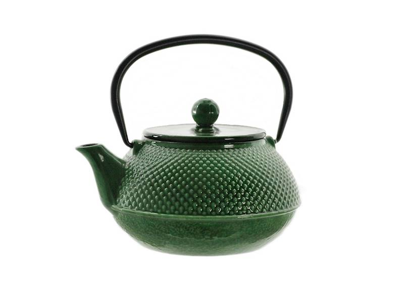 Cast iron japanese teapot 0,8L GIFT DOUBLE GREEN