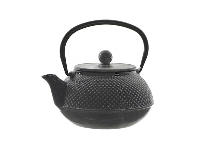 Cast iron japanese teapot 0,8L GIFT DOUBLE GREY