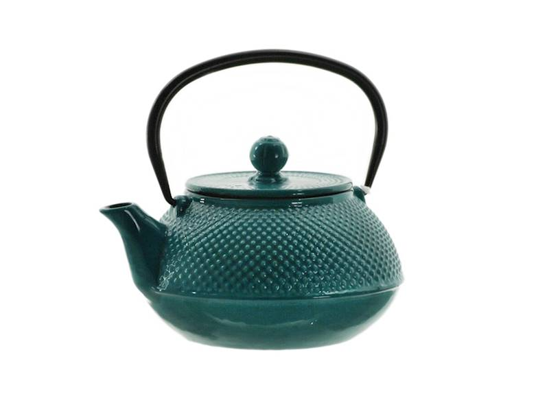 Cast iron japanese teapot 0,8L GIFT DOUBLE TURQUIS