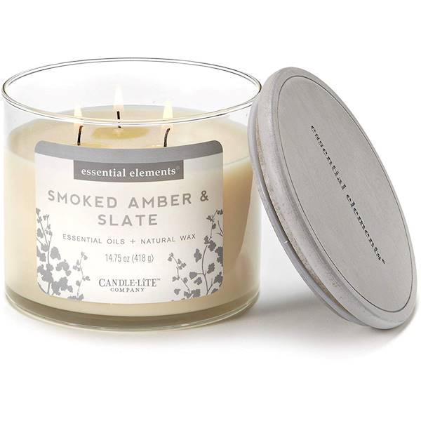 CANDLE Essential 14.75 oz - Smoked Amber & Slate