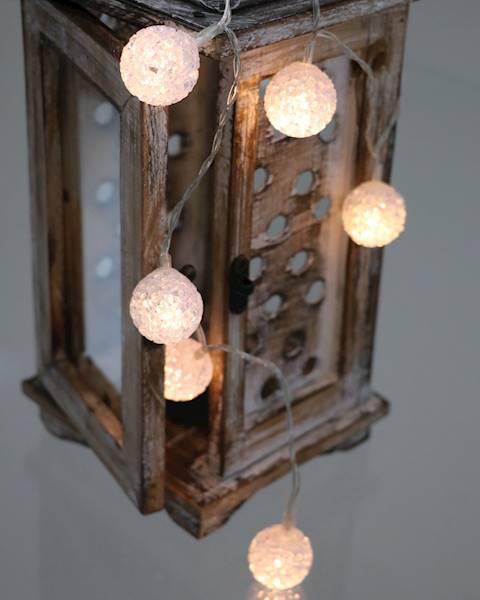Lampki ledowe kulki silikonowe 3cm ciepłe 10 diod/ LED Eva KULE DECO 3cm x10 ciepłe światło 8712442161639 / 23121482