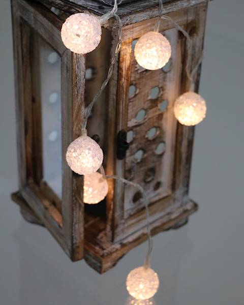 Lampki ledowe silikonowe kule 30 diod / LED Eva KULE DECO 3cm x10 ciepłe światło 8712442161639 / 23121482