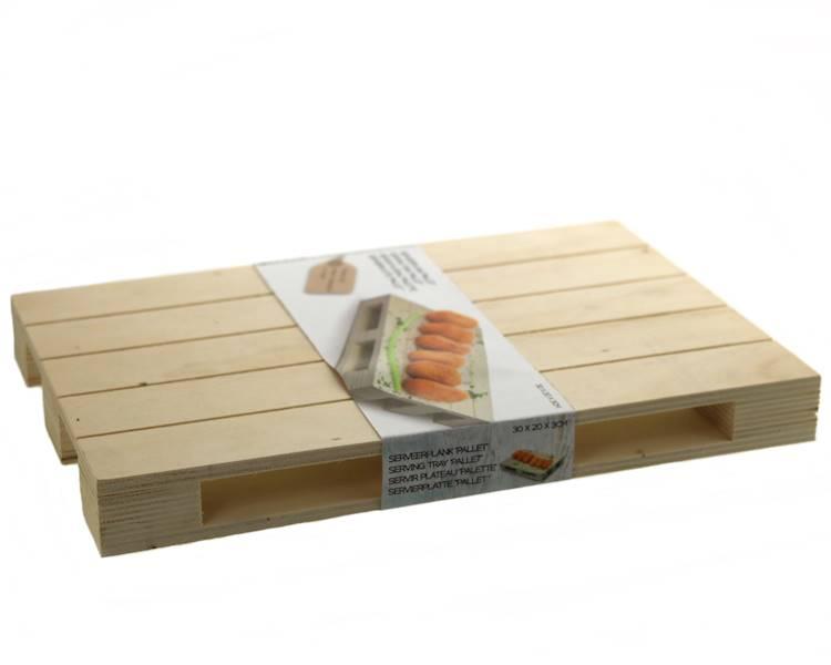 Drewniana minipaletka 30x20x3 / Wooden pallet tray 30x20x3 cm 8712442157236 / 24500870
